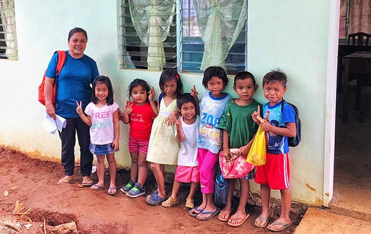 Storm-hit village gets new classroom for preschoolers